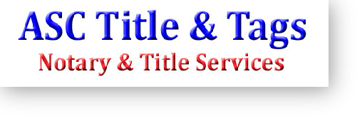 Pennsylvania Title and tag office, DMV, Notary